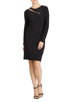 Lauren Ralph Lauren Cutout Jersey Dress