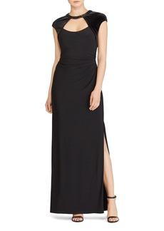 Lauren Ralph Lauren Cutout Jersey Gown