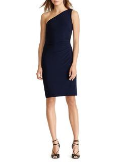 Lauren Ralph Lauren Cutout One-Shoulder Dress