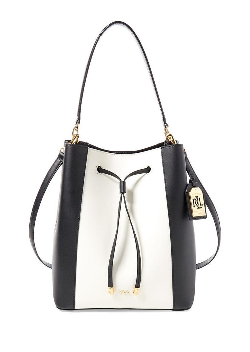 b70523e7c7f0 SALE! Ralph Lauren LAUREN RALPH LAUREN Debby Colorblock Drawstring Bag