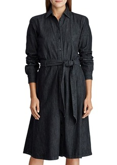 Lauren Ralph Lauren Denim Belted Shirt Dress