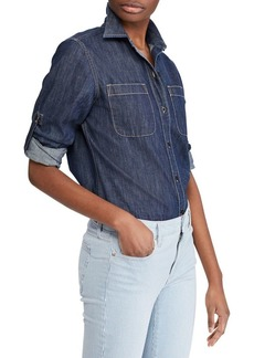 Lauren Ralph Lauren Denim Button-Down Shirt