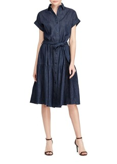 Lauren Ralph Lauren Denim Cotton Midi Shirt Dress