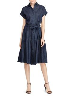 Lauren Ralph Lauren Denim Midi Dress
