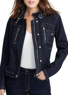 Lauren Ralph Lauren Denim Moto Jacket