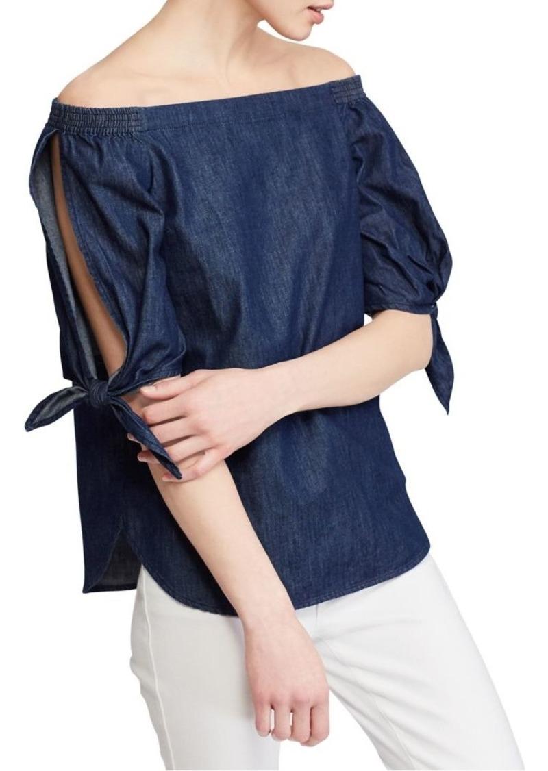 270f761ec5f SALE! Ralph Lauren Lauren Ralph Lauren Denim Off-the-Shoulder Top