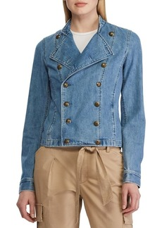 Lauren Ralph Lauren Denim Officer's Jacket