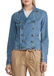 Lauren Ralph Lauren Denim Officer's Jacket