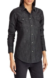 Lauren Ralph Lauren Denim Western Button-Down Shirt