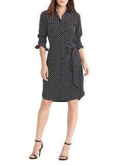Lauren Ralph Lauren Diamond Print Shirt Dress
