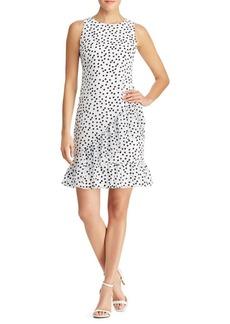 Lauren Ralph Lauren Dot-Print Georgette Dress