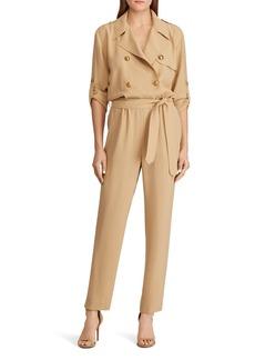 Lauren Ralph Lauren Double-Breasted Belted Jumpsuit - 100% Exclusive