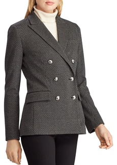 Lauren Ralph Lauren Double-Breasted Houndstooth Blazer