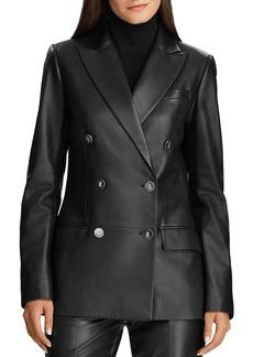 Lauren Ralph Lauren Double-Breasted Leather Jacket