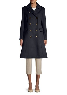 Lauren Ralph Lauren Double-Breasted Wool-Blend Coat