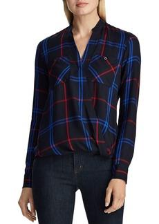 Lauren Ralph Lauren Draped Plaid Twill Shirt