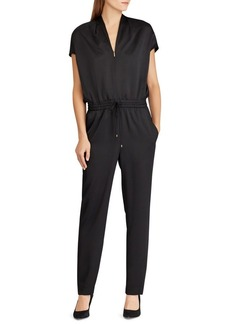 Lauren Ralph Lauren Draped Straight-Leg Jumpsuit