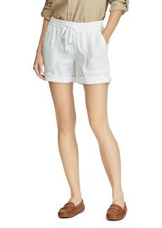 Lauren Ralph Lauren Drawcord Linen Shorts