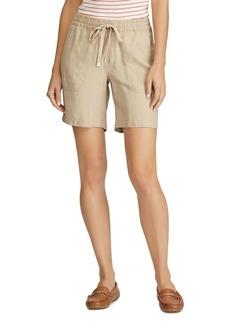 Lauren Ralph Lauren Drawcord-Waist Linen Shorts