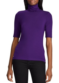 Lauren Ralph Lauren Elbow-Sleeve Turtleneck Top