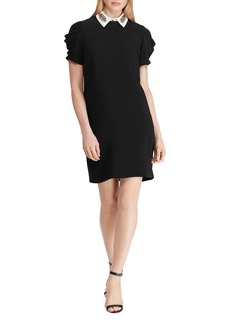 Lauren Ralph Lauren Embellished Layered Look Dress
