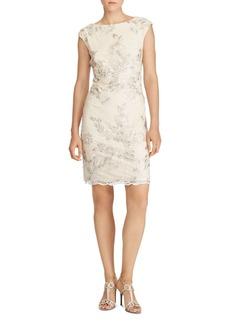 Lauren Ralph Lauren Embellished Sheath Dress