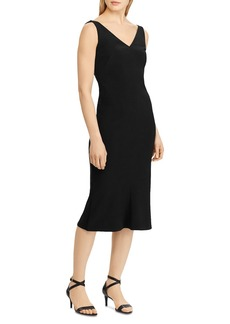 Lauren Ralph Lauren Embellished Shoulder Sheath Dress