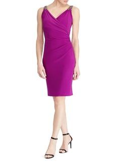 Lauren Ralph Lauren Embellished Sleeveless Evening Dress