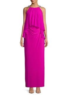 Lauren Ralph Lauren Embellished Sleeveless Gown