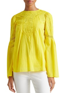 Lauren Ralph Lauren Embroidered Bell-Sleeve Blouse