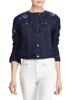 Lauren Ralph Lauren Embroidered Floral Denim Jacket