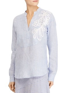 Lauren Ralph Lauren Embroidered Linen Tunic