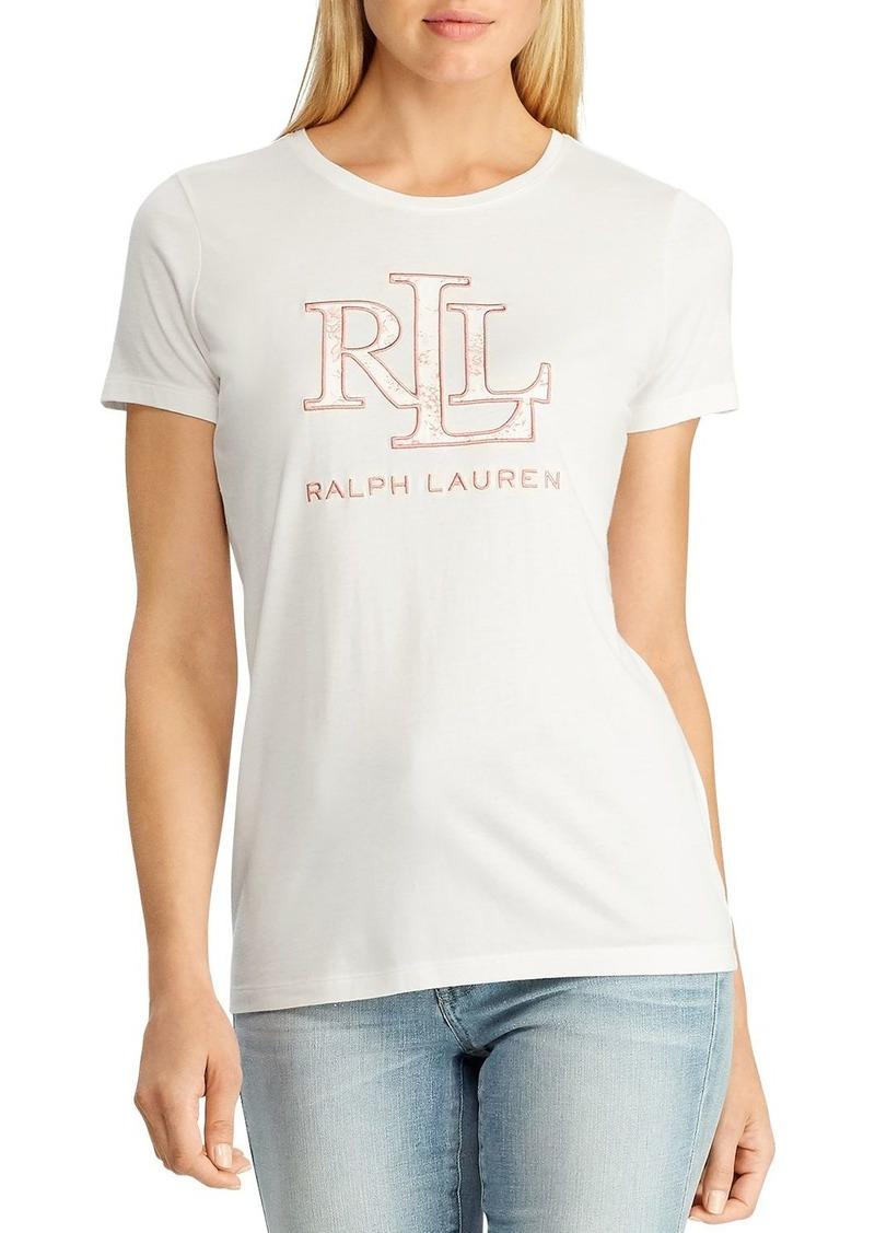 Lauren Ralph Lauren Embroidered Logo Tee