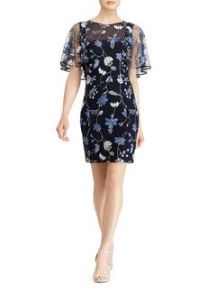 Lauren Ralph Lauren Embroidered Overlay Dress
