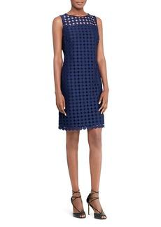 Lauren Ralph Lauren Embroidered Sheath Dress