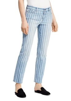 Lauren Ralph Lauren Estate Stripe Straight Ankle Jeans in Blue