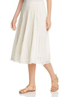 Lauren Ralph Lauren Eyelet-Trim A-Line Skirt