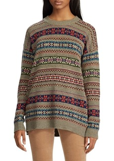 Lauren Ralph Lauren Fair Isle Cotton-Blend Sweater