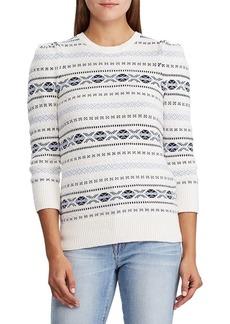 Lauren Ralph Lauren Fair Isle Cotton Sweater