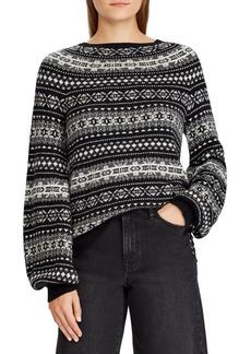 Lauren Ralph Lauren Fair Isle Puffed-Sleeve Sweater