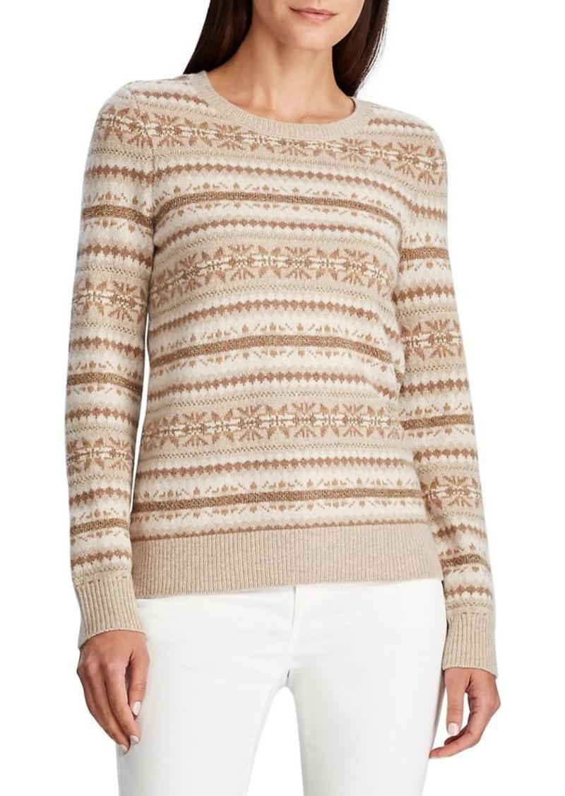 Lauren Ralph Lauren Fair Isle Wool & Cotton-Blend Sweater