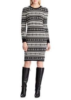 Lauren Ralph Lauren Fair Isle Wool-Blend Sweater Dress