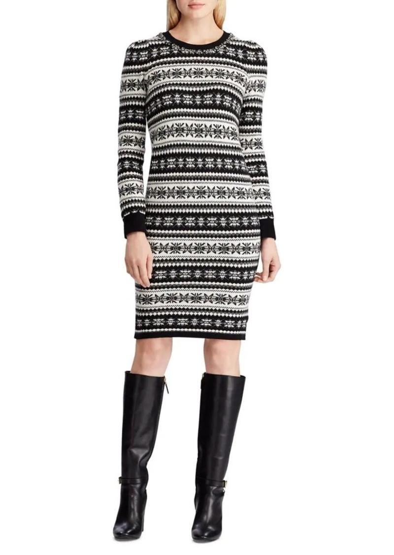 Lauren Ralph Lauren Fair Isle Wool-Blend Sweater Dress