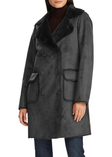Lauren Ralph Lauren Faux-Fur Double Breasted Coat