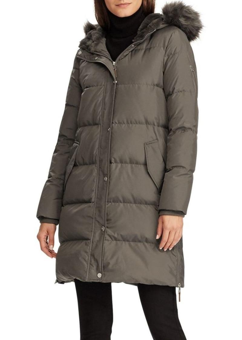Lauren Ralph Lauren Faux-Fur Hooded Puffer Coat