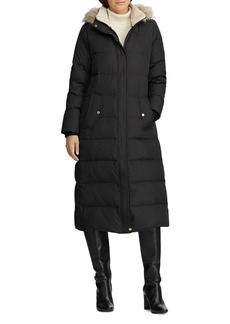 Lauren Ralph Lauren Faux Fur-Trim Maxi Puffer Coat