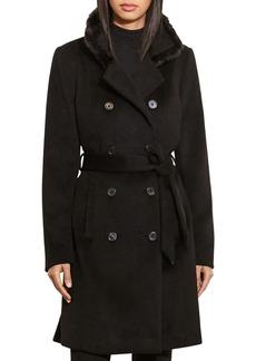 Lauren Ralph Lauren Faux Fur-Trim Military Coat
