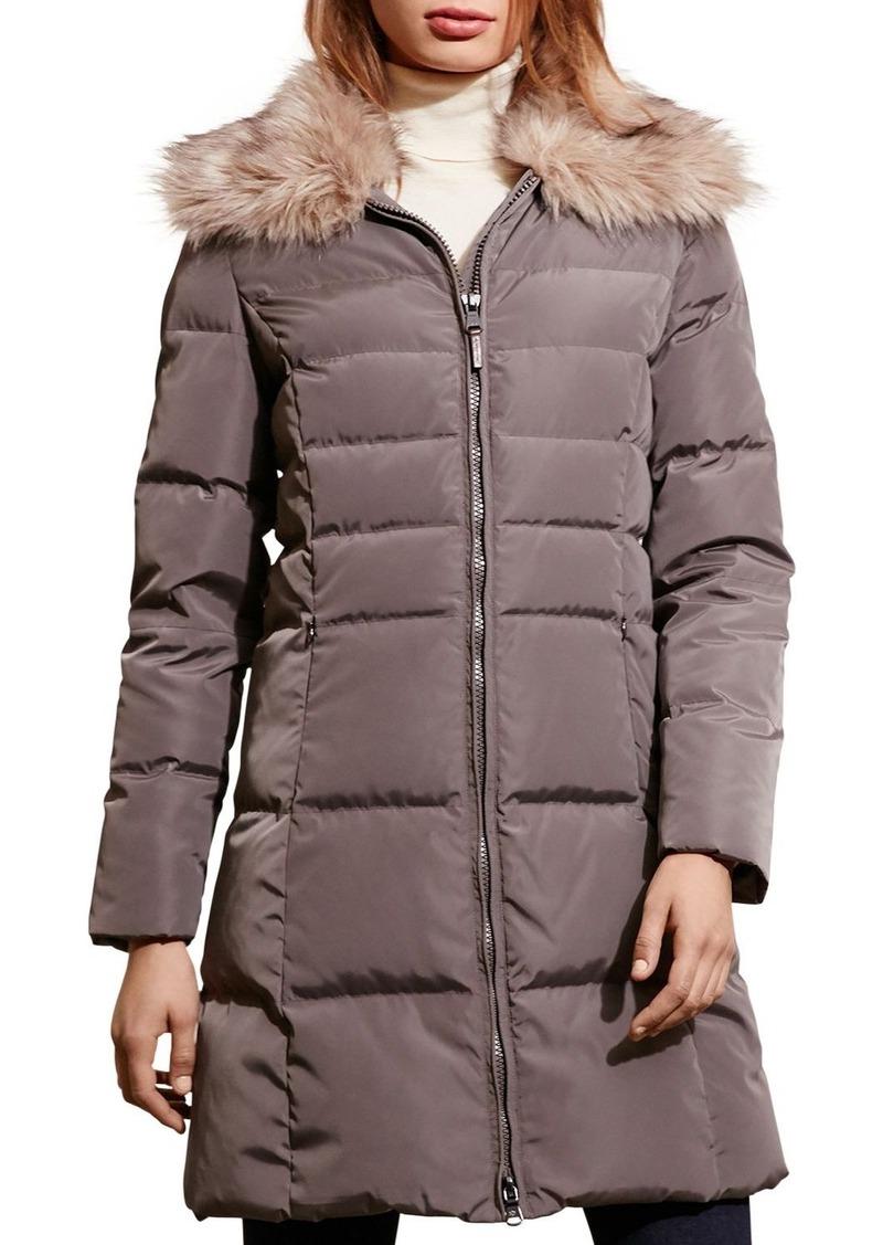 bf8855c22106 Ralph Lauren Lauren Ralph Lauren Faux Fur-Trim Quilted Puffer Coat ...