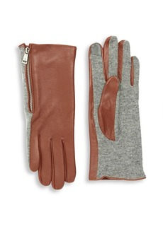 Lauren Ralph Lauren Faux-Leather Tech Gloves