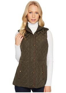 Ralph Lauren Faux Leather Trim Military Vest